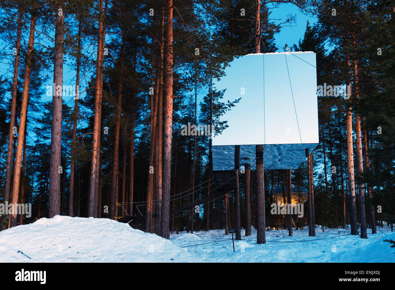 The Mirror Cube Room The Tree Hotel Lapland Arctic Circle