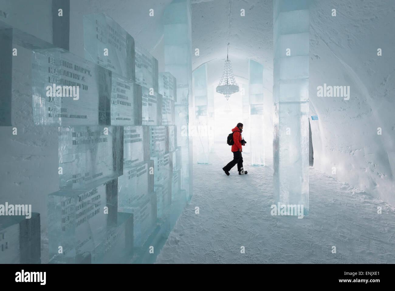 Ice Hotel, Kiruna, Lapland, Arctic Circle, Sweden, Scandinavia, Europe - Stock Image