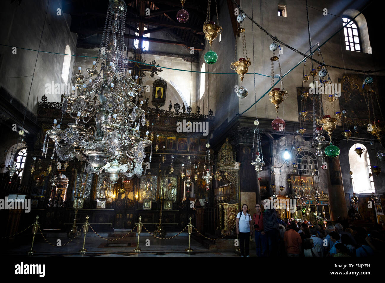 Church of the Nativity, Bethlehem, West Bank, Palestine territories, Israel, Middle East - Stock Image