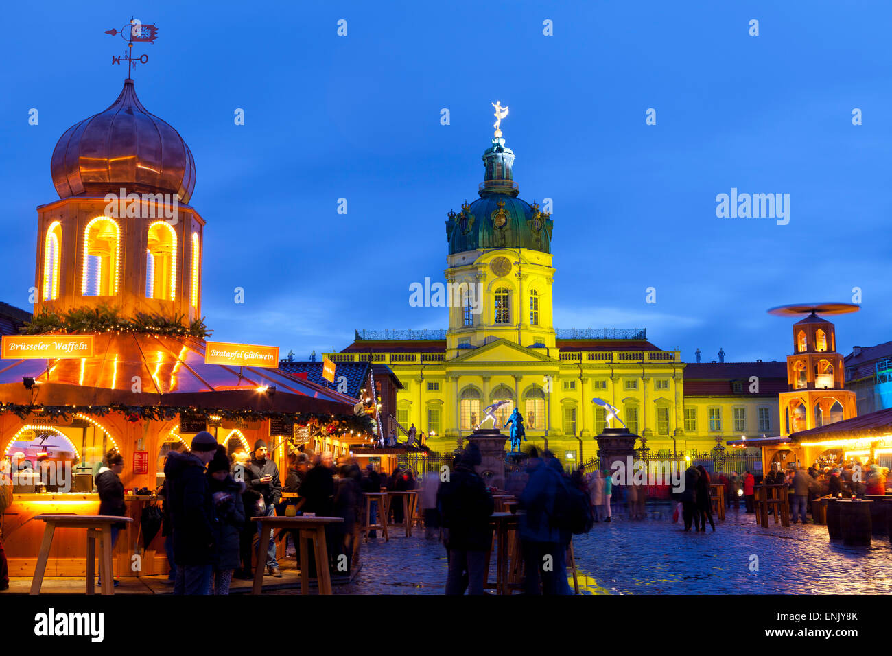 Christmas Market in front of Charlottenburg Palace, Berlin, Germany, Europe Stock Photo