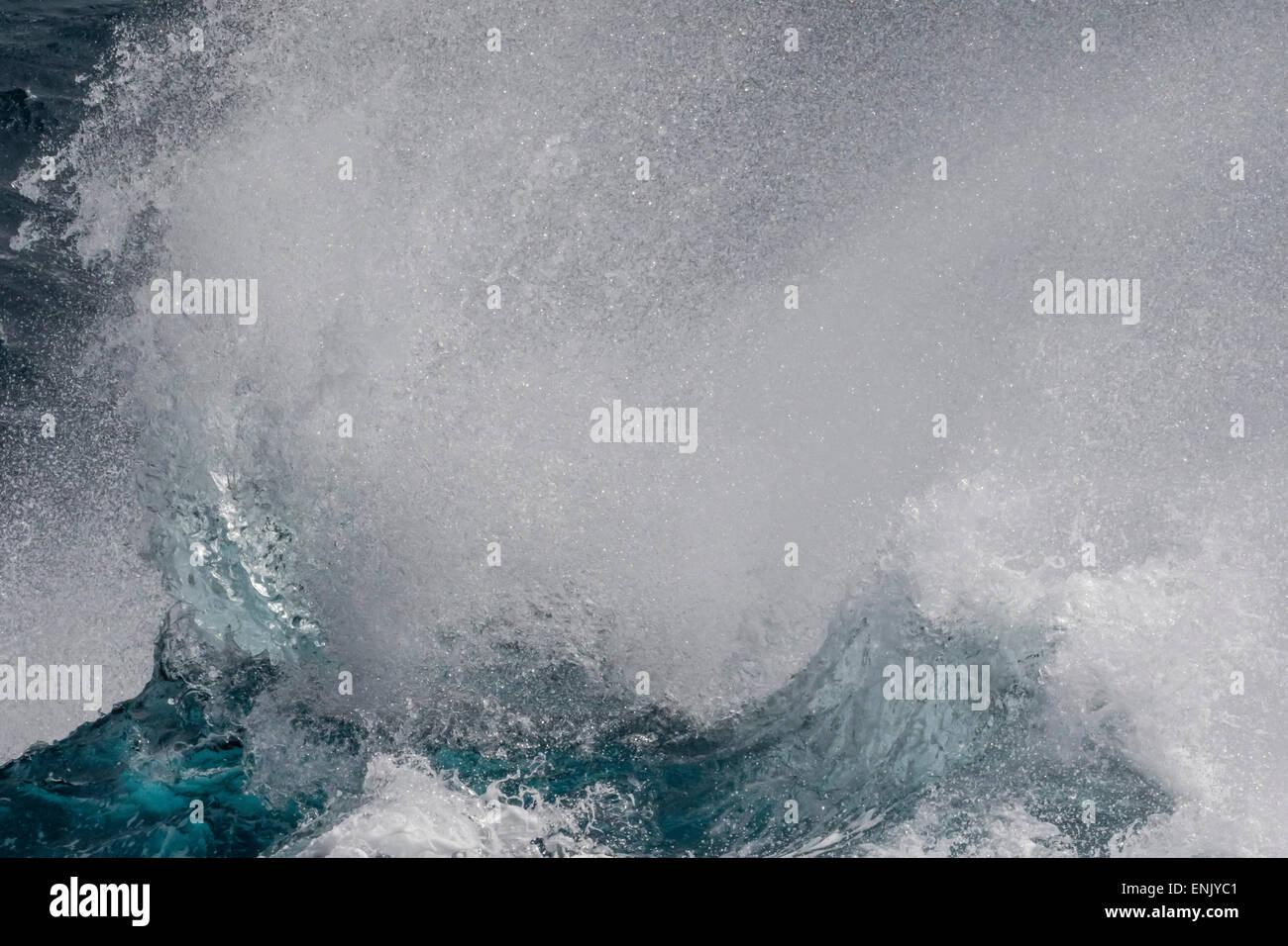 High seas breaking in English Strait, South Shetland Islands, Antarctica, Polar Regions - Stock Image