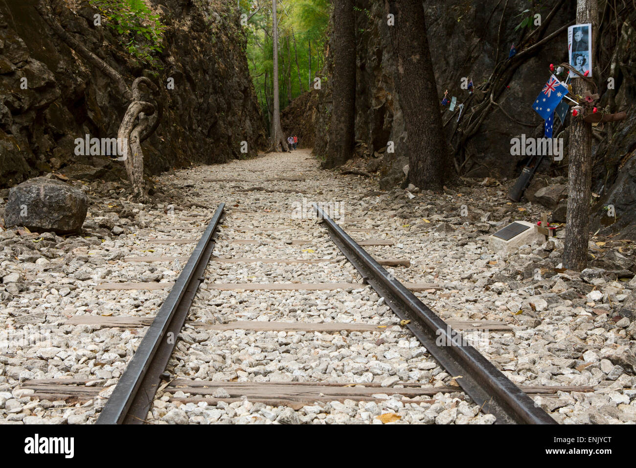 Hellfire Pass Museum, on the infamous Thai-Burmese Death Railway, Hellfire Pass, Kanchanaburi, Thailand - Stock Image