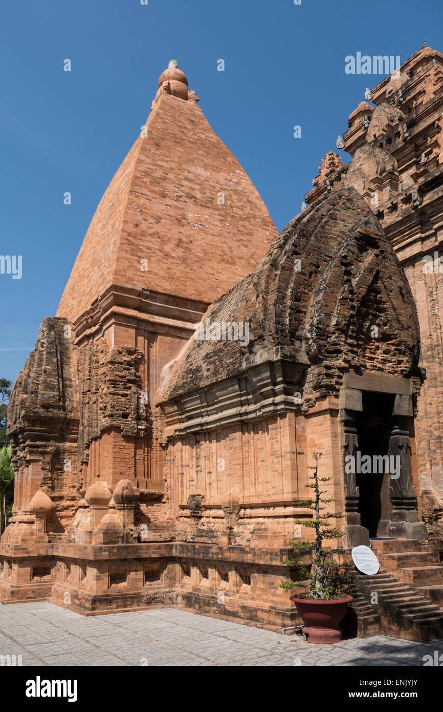 Po Nagar Cham tower, Nha Trang, Vietnam, Indochina, Southeast Asia, Asia - Stock Image