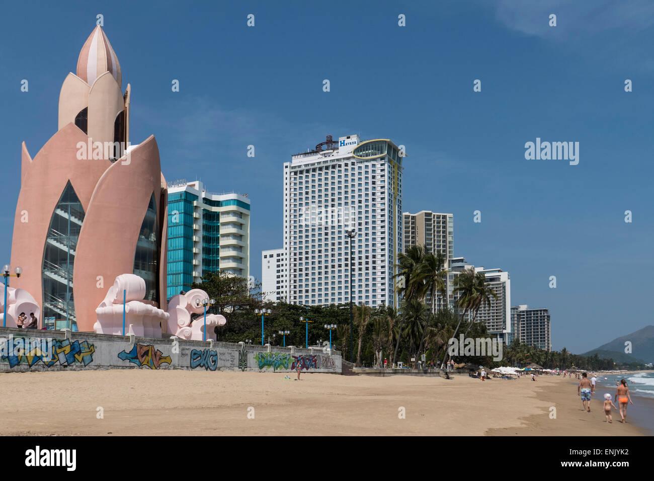 Seafront, Nha Trang, Vietnam, Indochina, Southeast Asia, Asia - Stock Image