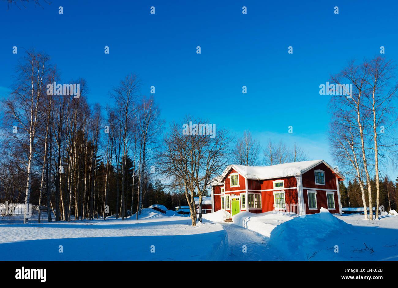 Gamelstad, Open Air Museum, UNESCO World Heritage Site, Lulea, Lapland, Arctic Circle, Sweden, Scandinavia, Europe - Stock Image
