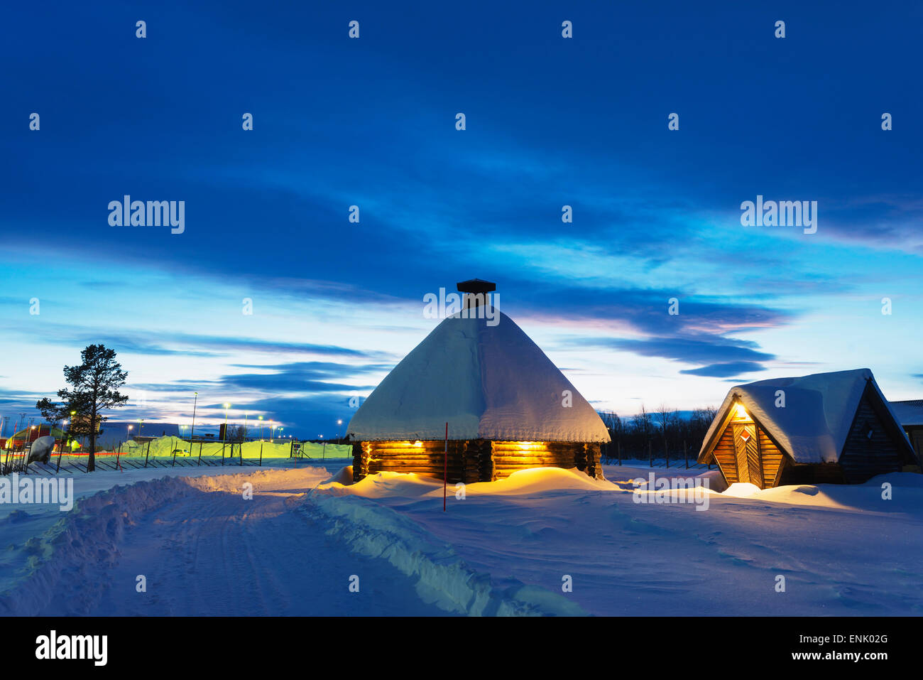Kiruna, Lapland, Arctic Circle, Sweden, Scandinavia, Europe - Stock Image