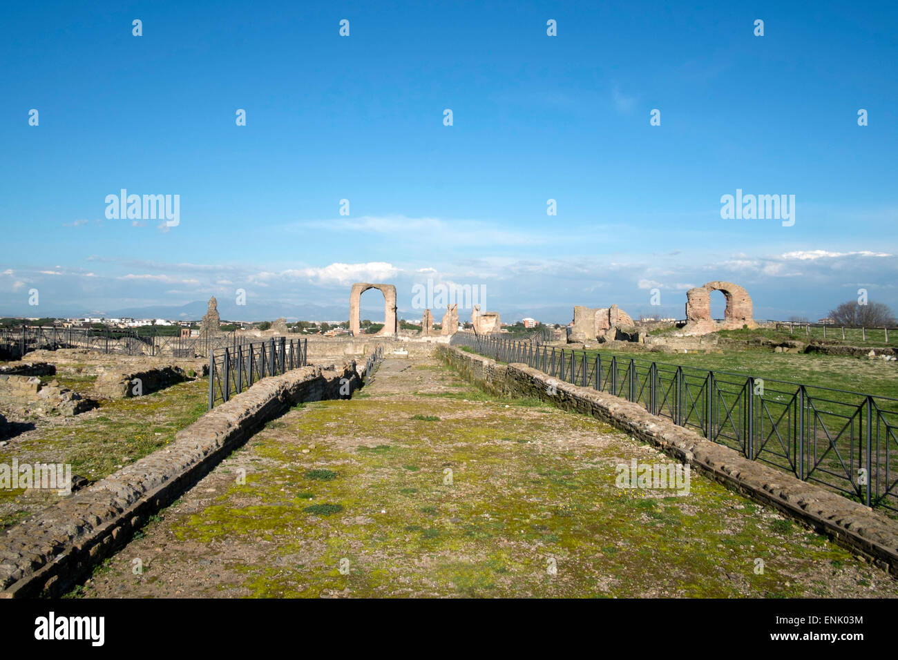 The main view of the Quintili's villa built in the 2nd century BC on the Appian Way, Rome, Lazio, Italy, Europe - Stock Image