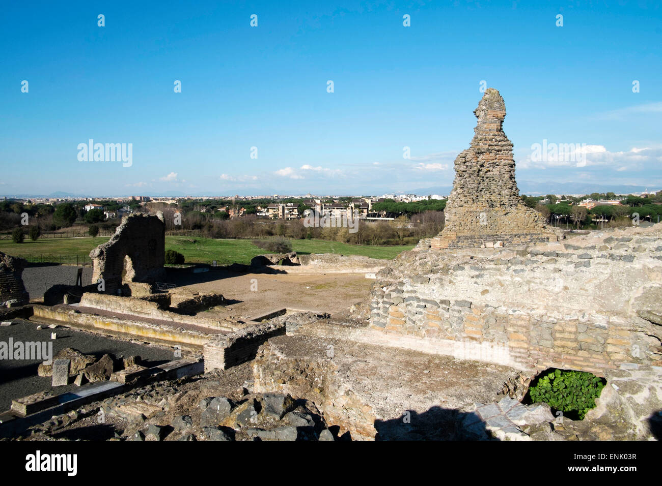 Vew of Rome from the Quintili's villa built in the 2nd century BC, Rome, Lazio, Italy, Europe - Stock Image