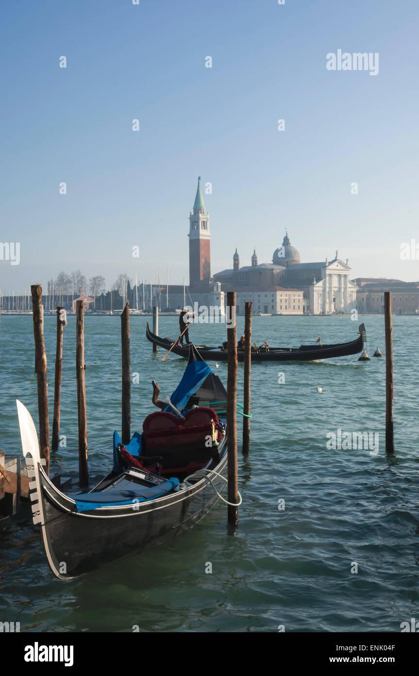 Isola di San Giorgio Maggiore, Venice, UNESCO World Heritage Site, Veneto, Italy, Europe - Stock Image
