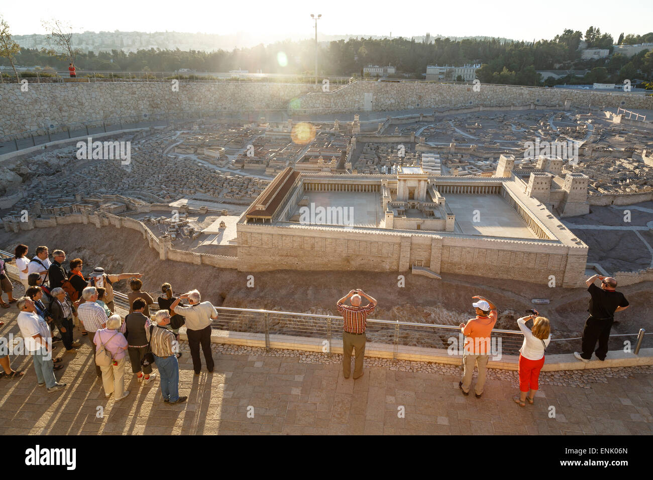 Model of Jerusalem in the late second temple period, Israel Museum, Jerusalem, Israel, Middle East - Stock Image