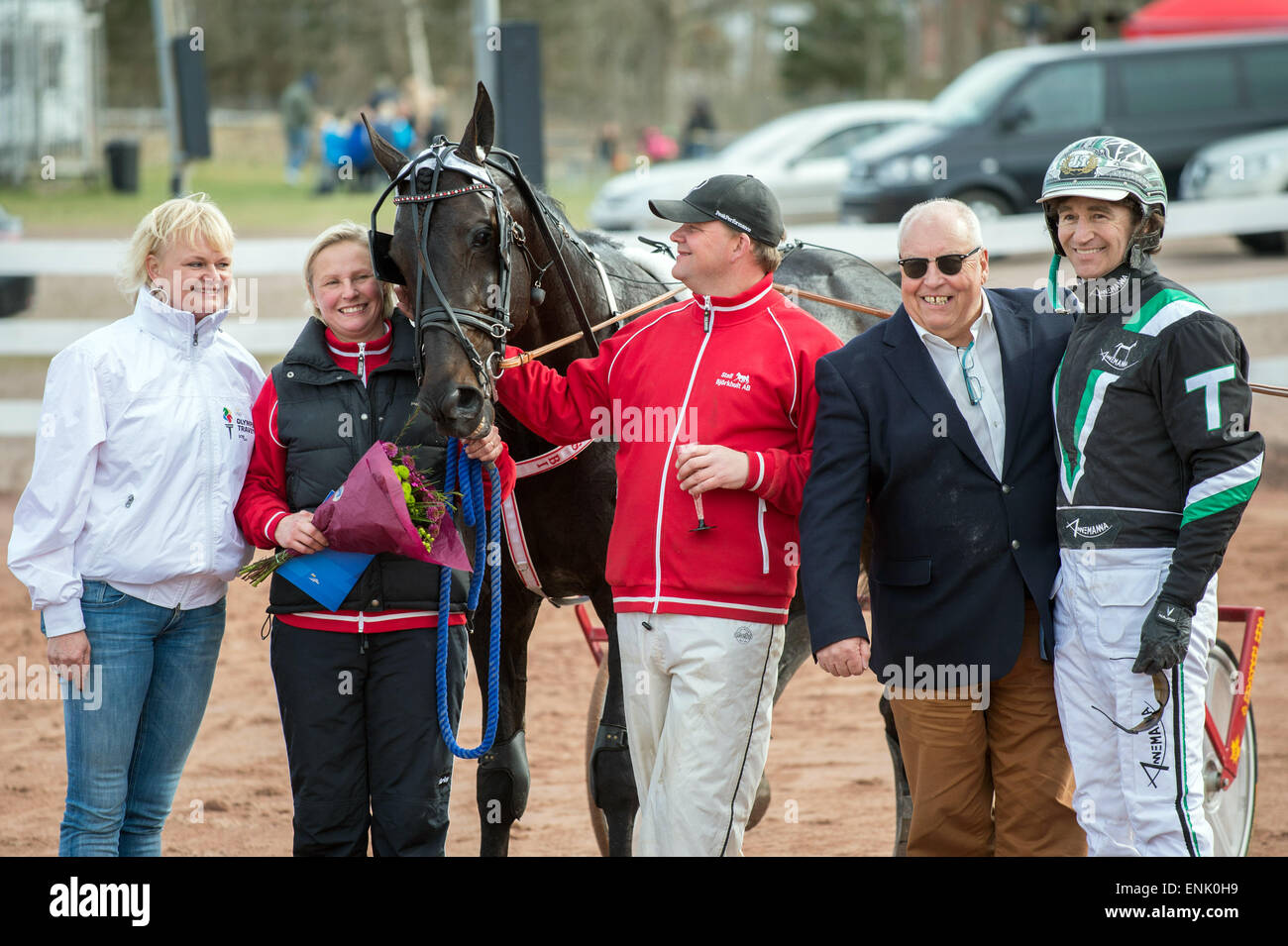 Anette Norberg harness driver johnny takter and anette norberg pose with
