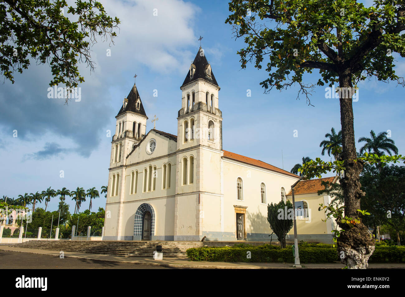 The cathedral of the city of Sao Tome, Sao Tome and Principe, Atlantic Ocean, Africa - Stock Image