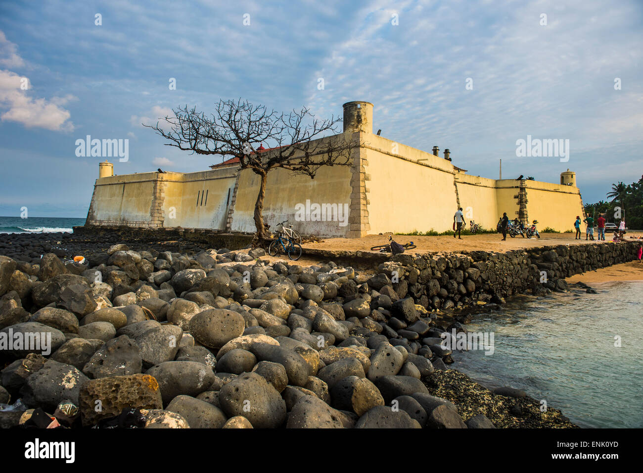 San Sebastian Fort, City of Sao Tome, Sao Tome and Principe, Atlantic Ocean, Africa - Stock Image