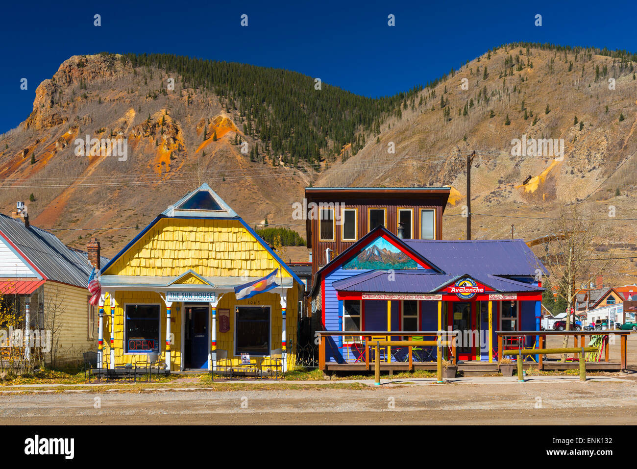 Silverton, Colorado, United States of America, North America - Stock Image