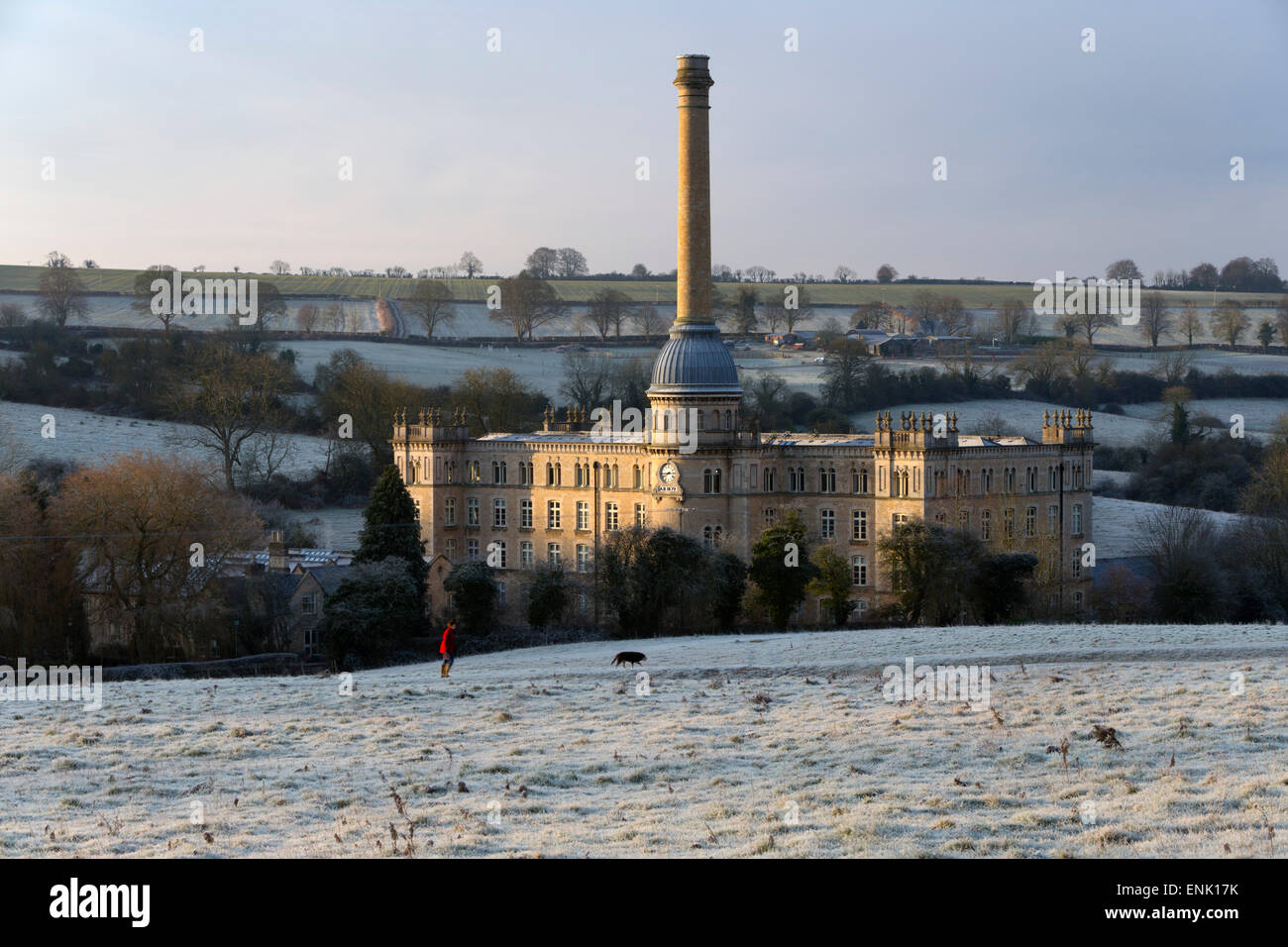 Bliss Mill in morning frost, Chipping Norton, Cotswolds, Oxfordshire, England, United Kingdom, Europe - Stock Image