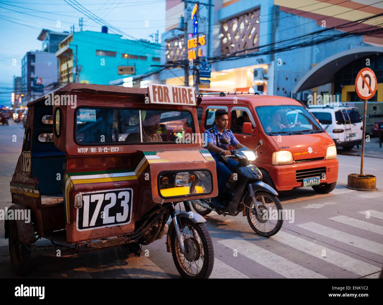 Tuk tuk, Tagbilaran, Bohol Island, Visayas, Philippines, Southeast Asia, Asia - Stock Image