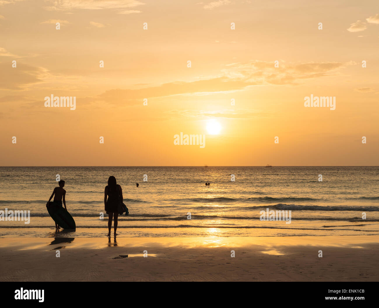 White Beach, Boracay, The Visayas, Philippines, Southeast Asia, Asia Stock Photo