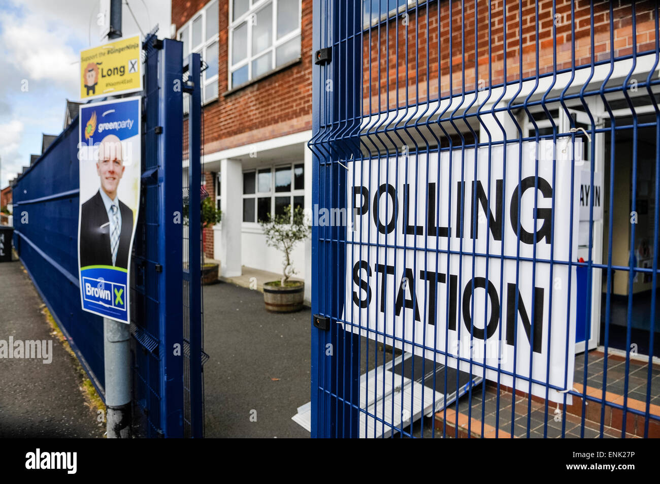 UK Polling Station during a general election - Stock Image