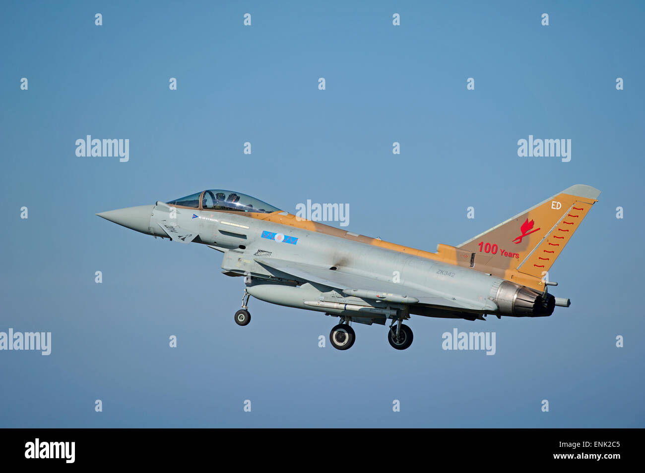 RAF Eurofighter Typhoon FRG4 Serial Rregistration ZA461 at Lossiemouth Scvpotland. SCO 9727. - Stock Image