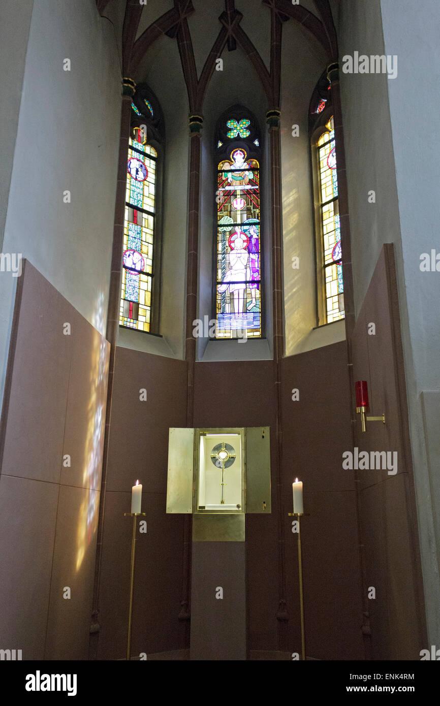 funerary chapel, Martinus Church, Olpe, Sauerland, North Rhine-Westfalia, Germany - Stock Image