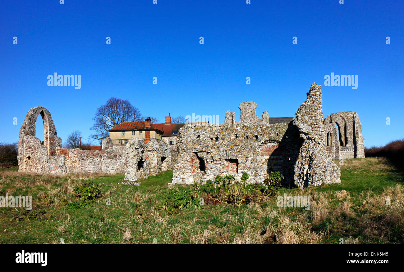 A view of the ruins of Leiston Abbey, Suffolk, England, United Kingdom. - Stock Image