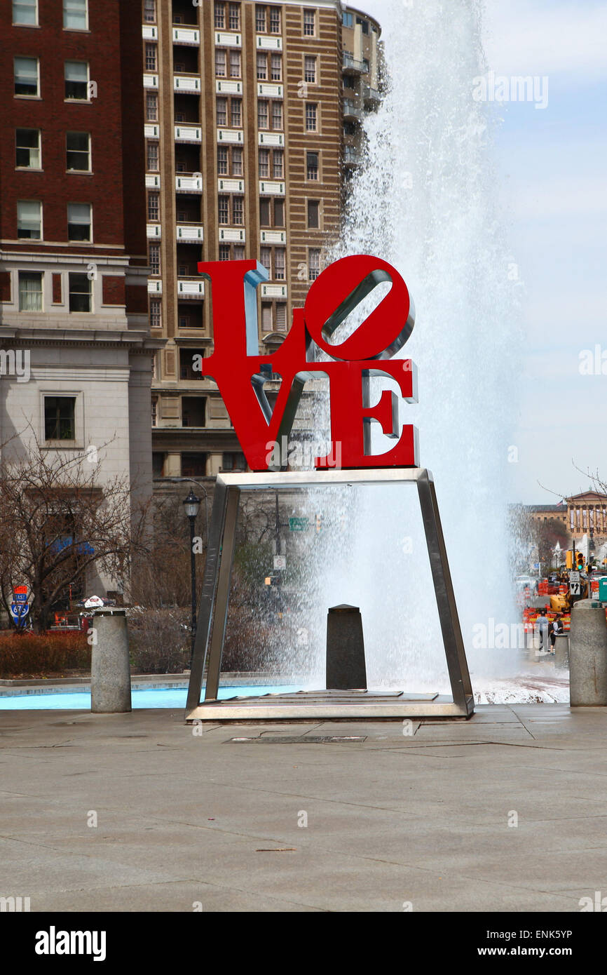 The Love Sculpture, Philadelphia, Pennsylvania - Stock Image