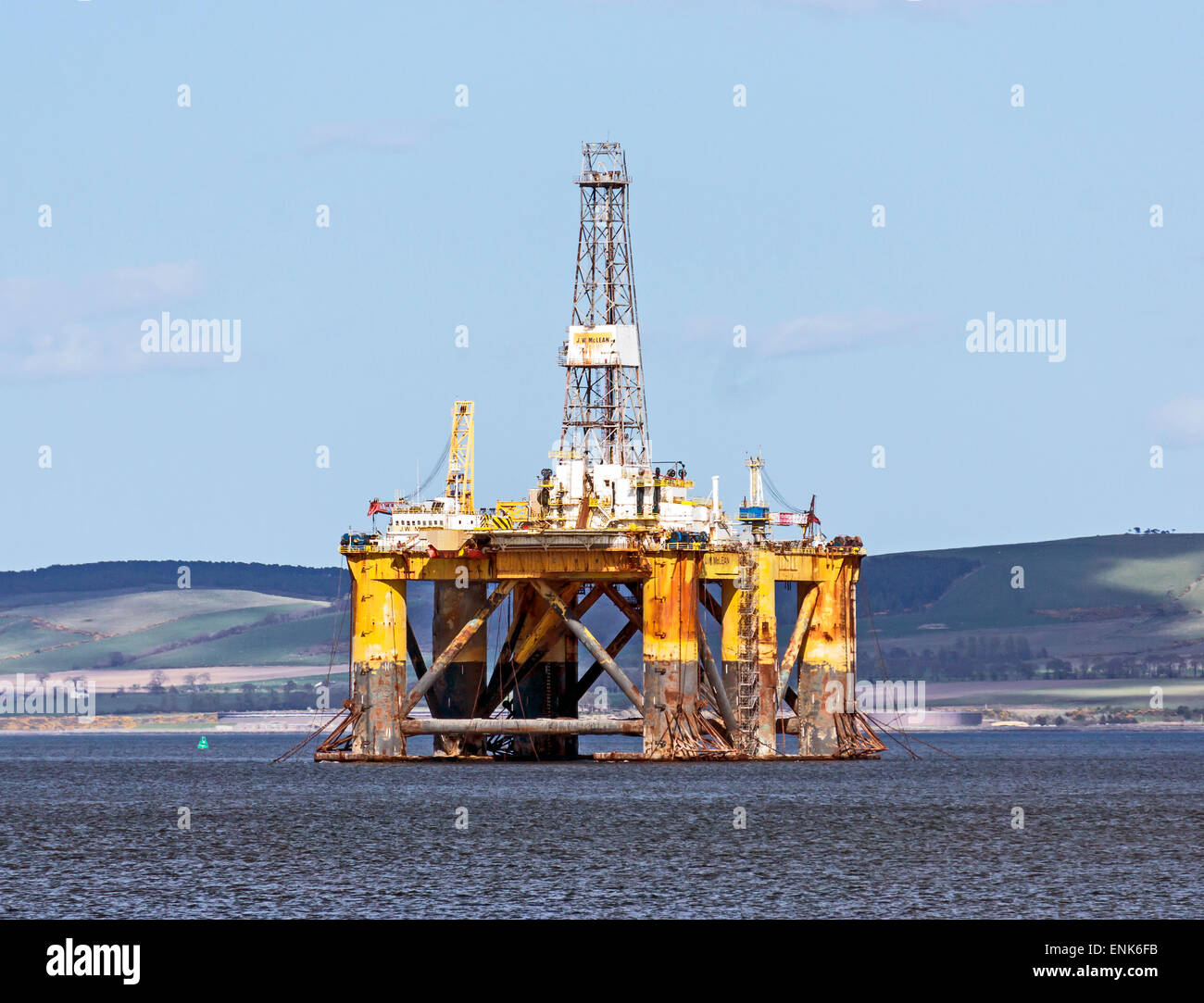 Rig J. W. McLean anchored in the Cromarty Firth at the Black Isle Highland Scotland - Stock Image