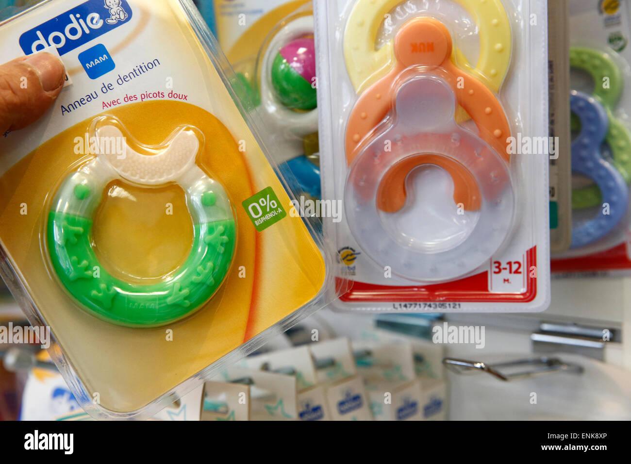 Teething ring - Stock Image