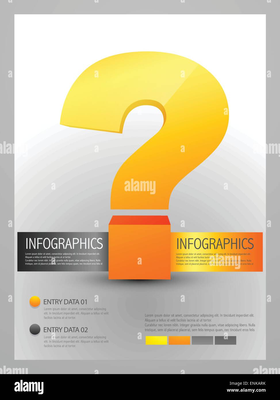 vector infographic template of question mark stock vector art