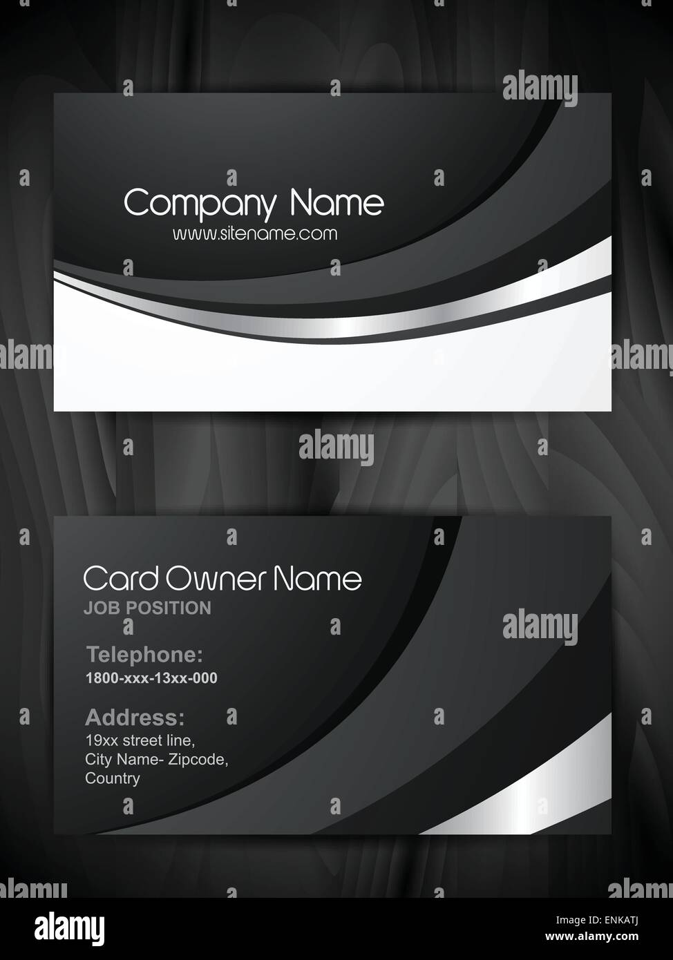 Shiny business card template design stock vector art illustration shiny business card template design colourmoves