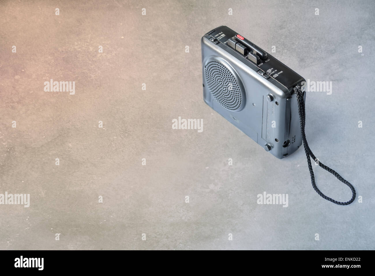 Vintage analog micro cassette tape recorder (Dictaphone) - Stock Image