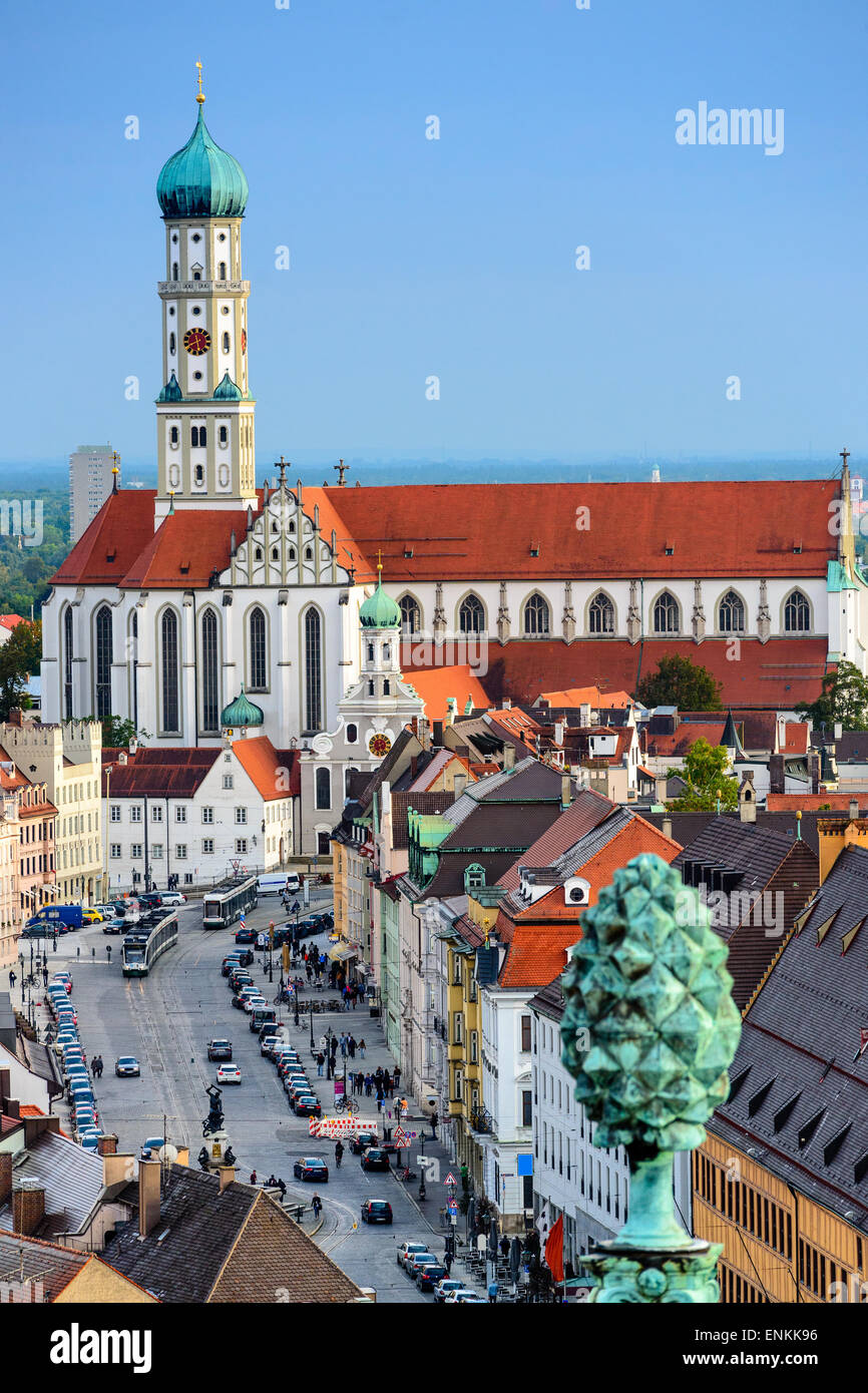 Augsburg, Germany old town skyline. - Stock Image