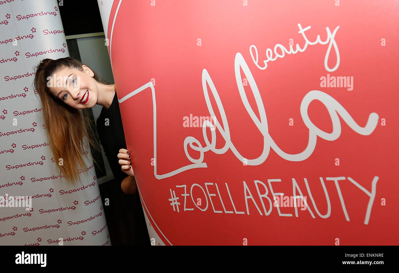 Vlogger and internet personality Zoe Suggs aka Zoella meets fans at Superdrug's store in Churchill Square in - Stock Image