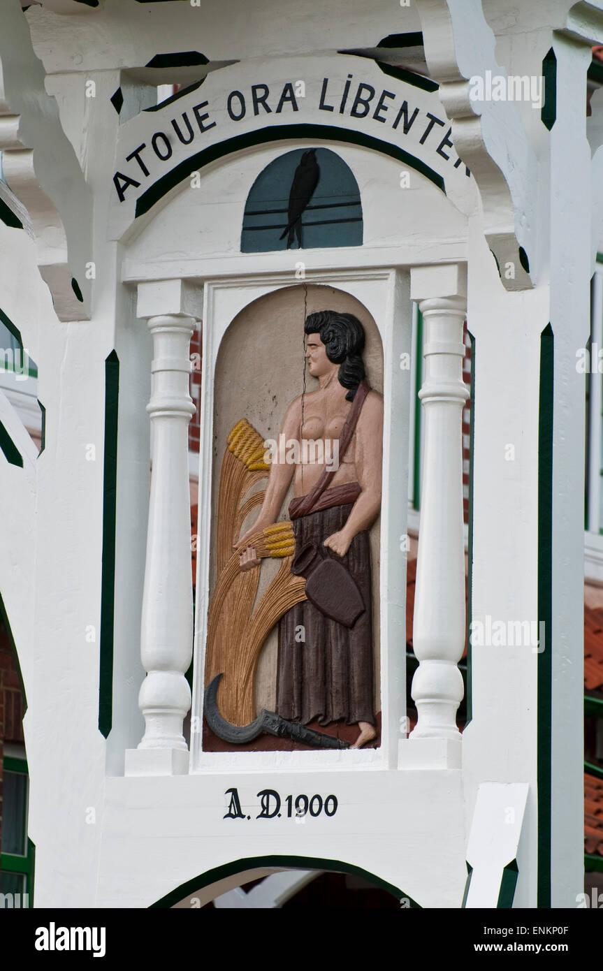 Detail, Tor, Bauernhof, Fachwerk, Altes Land, Niedersachsen, Deutschland |  Gate, Farm house, timber framed, Altes - Stock Image