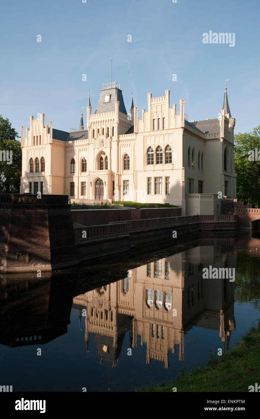 Evenburg castle, Leer, Ostfriesland, Lower Saxony, Germany - Stock Image