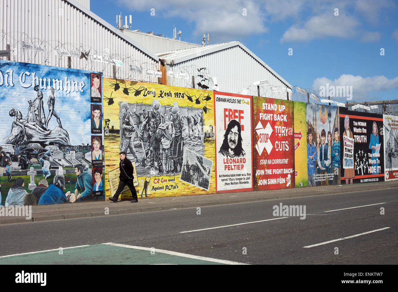 Falls Road, Belfast, Northern Irealnd - Stock Image