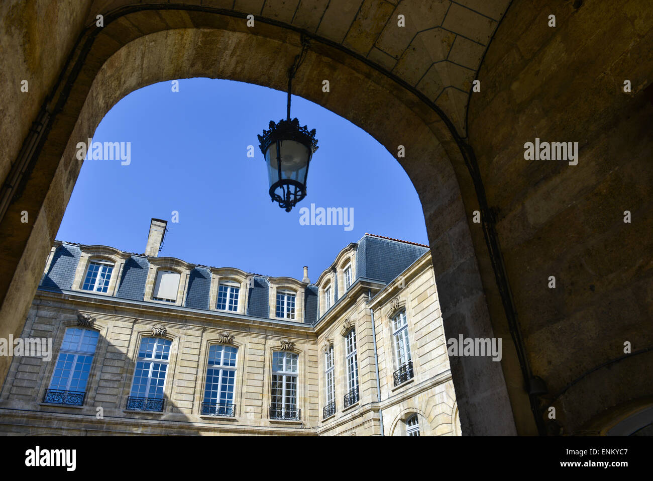 Courtyard of a mansion Stock Photo