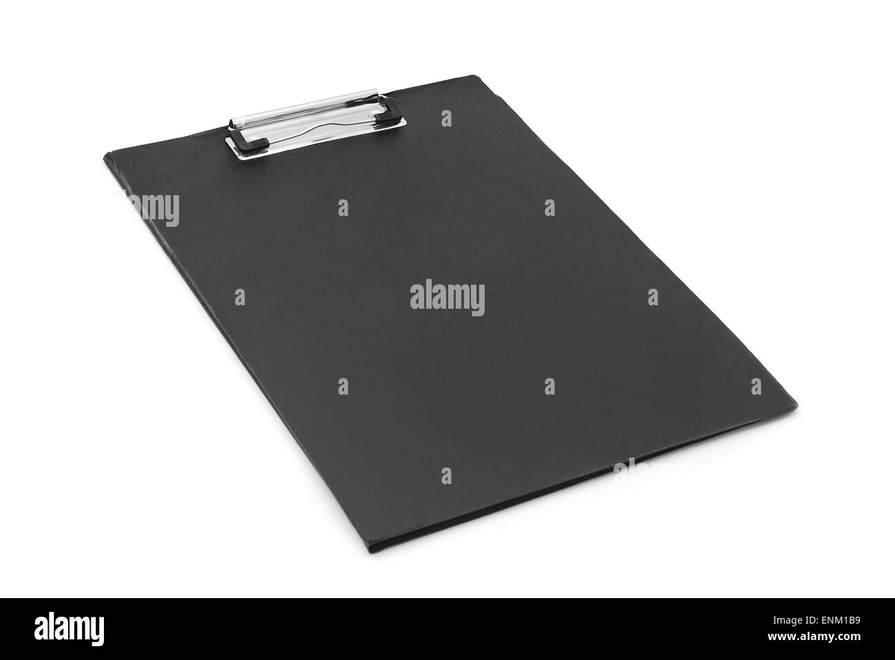 black clipboard on white background - Stock Image