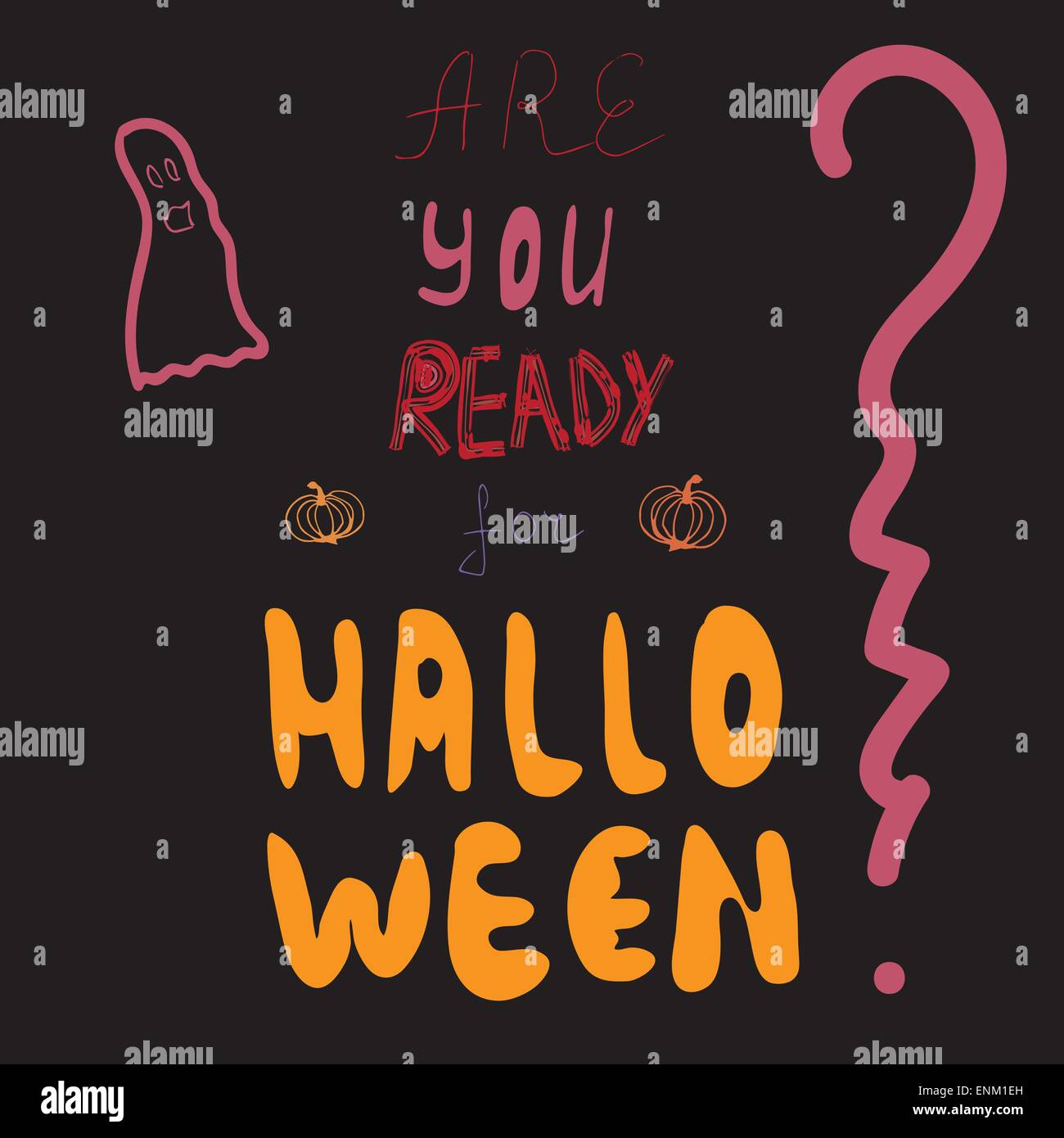 Are you ready for halloween party invitation vector illustration are you ready for halloween party invitation vector illustration stopboris Gallery