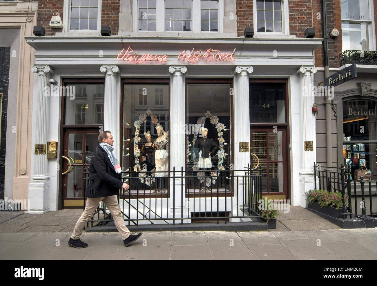 Vivienne Westwood shop  mayfair - Stock Image