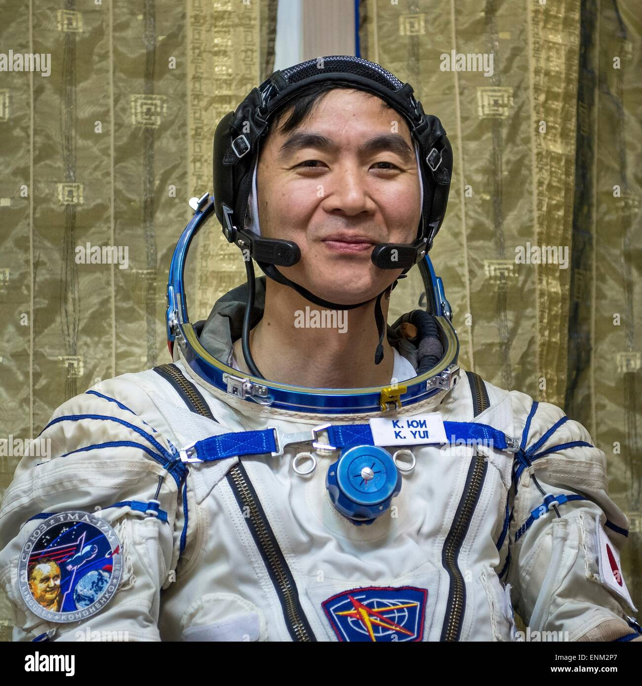 International Space Station Expedition 44 crew member astronaut Kimiya Yui of the Japan Aerospace Exploration Agency - Stock Image