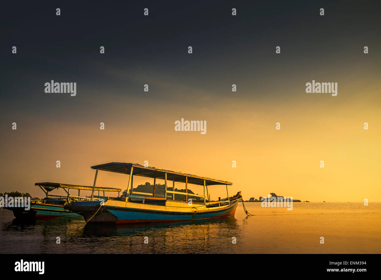 Tourist Boats for Island Hopping - Stock Image