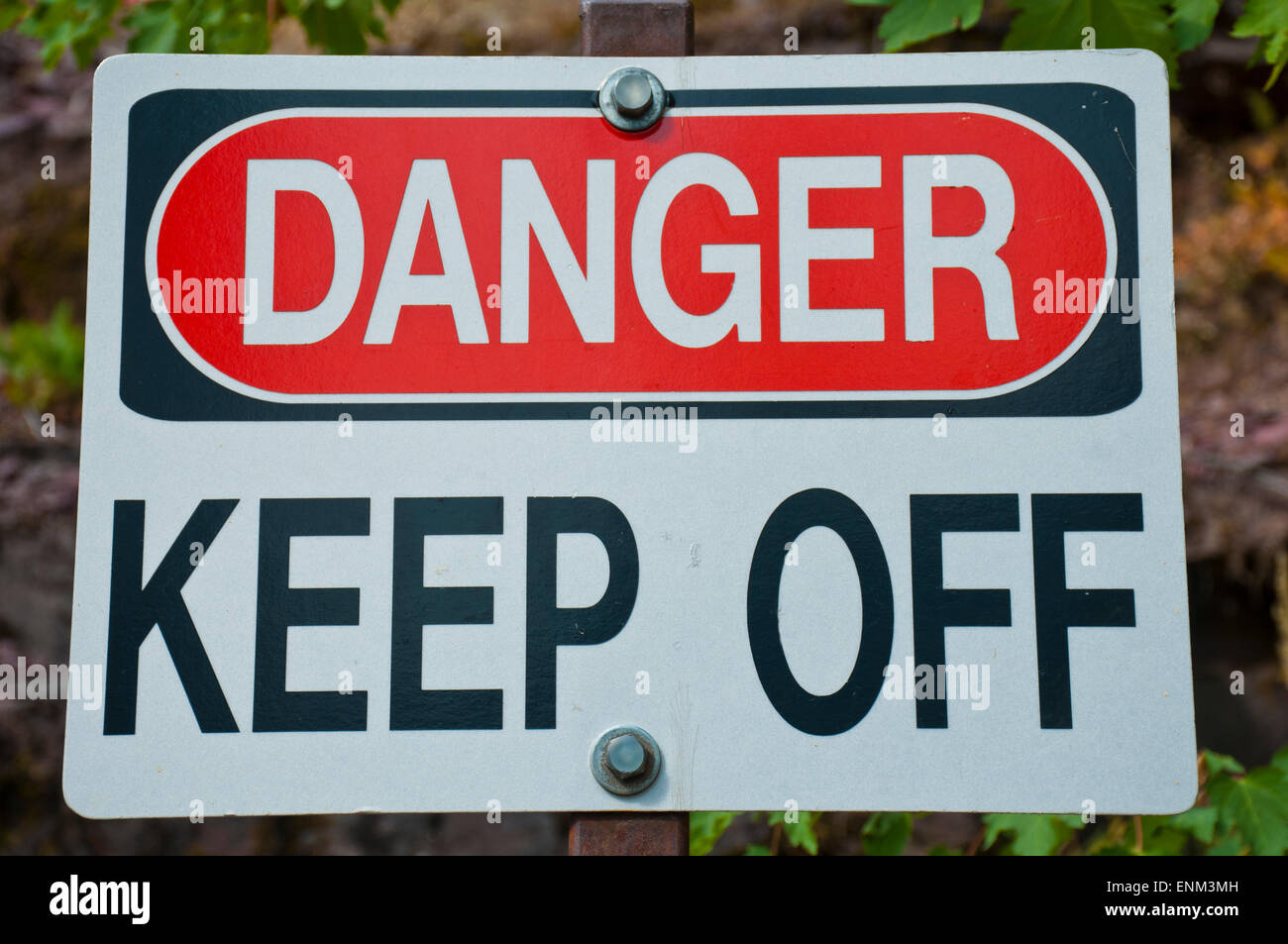 Danger warning sign - Stock Image