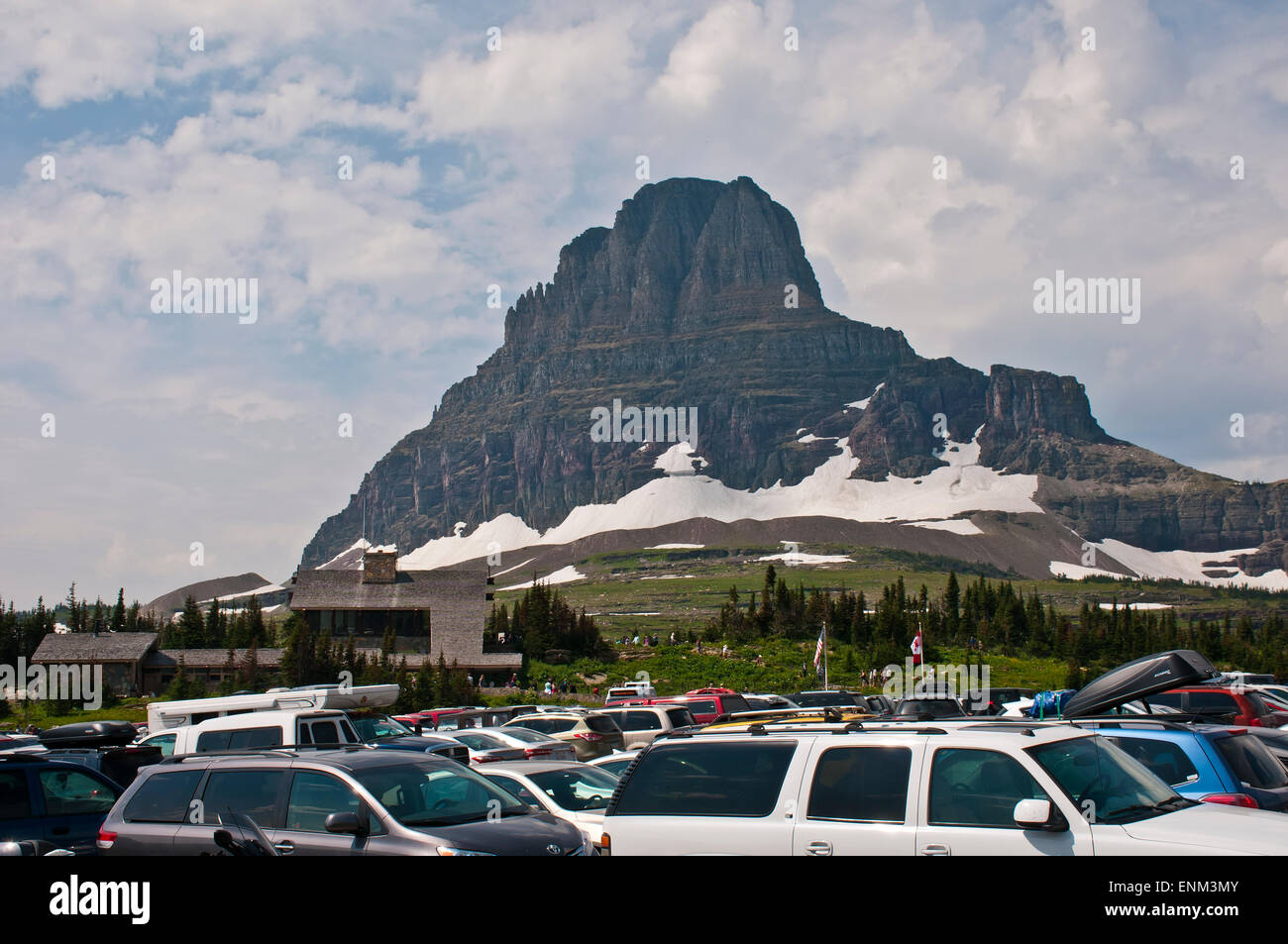 Glacier NP, Logan pass, Montana, USA - Stock Image