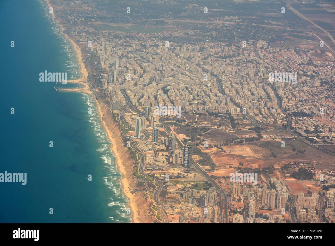 Netanya aerial  view, Israel Stock Photo