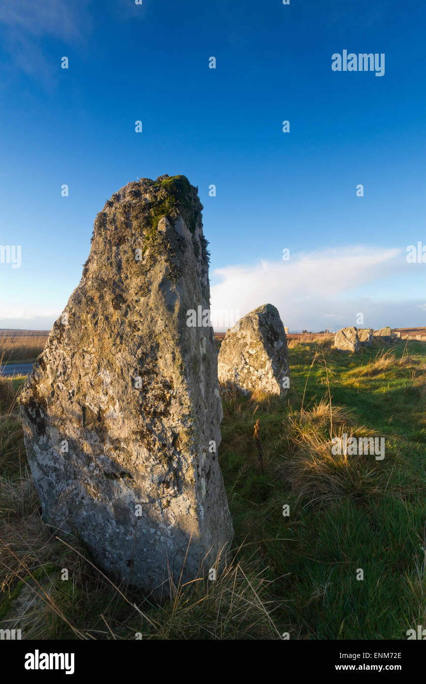 Achavanich stone circle, Caithness - Stock Image