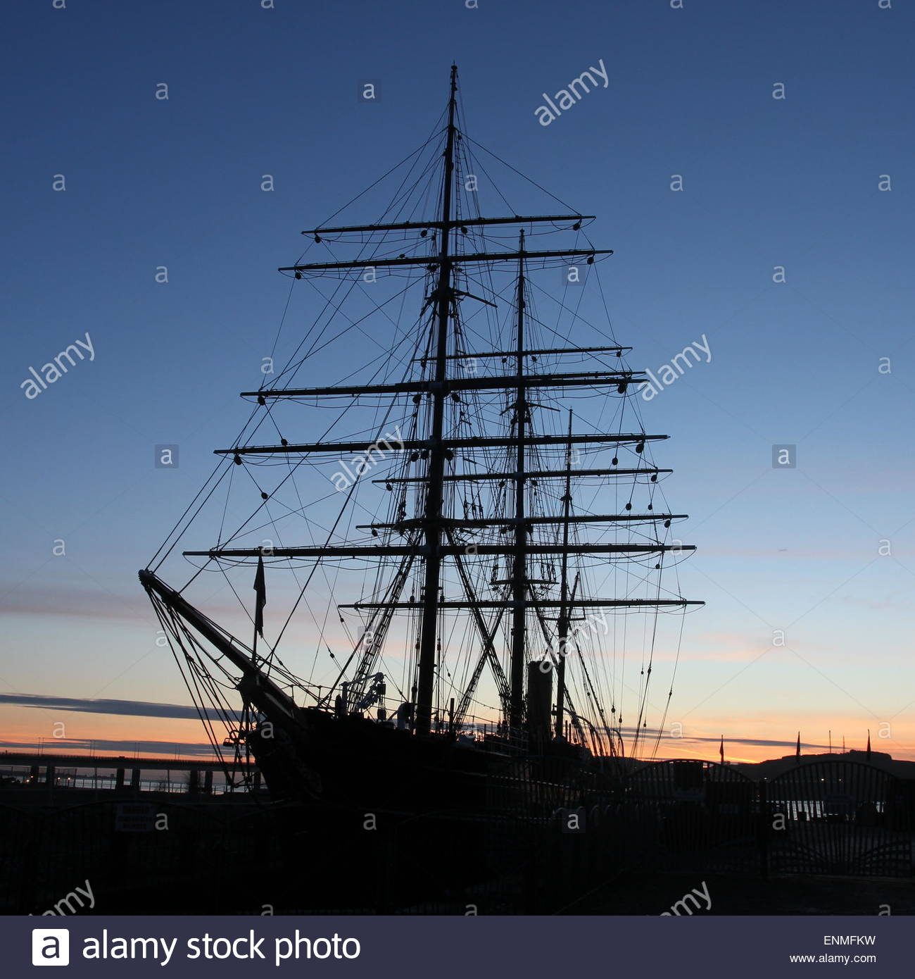 RRS Discovery Dundee Scotland  February 2015 Stock Photo