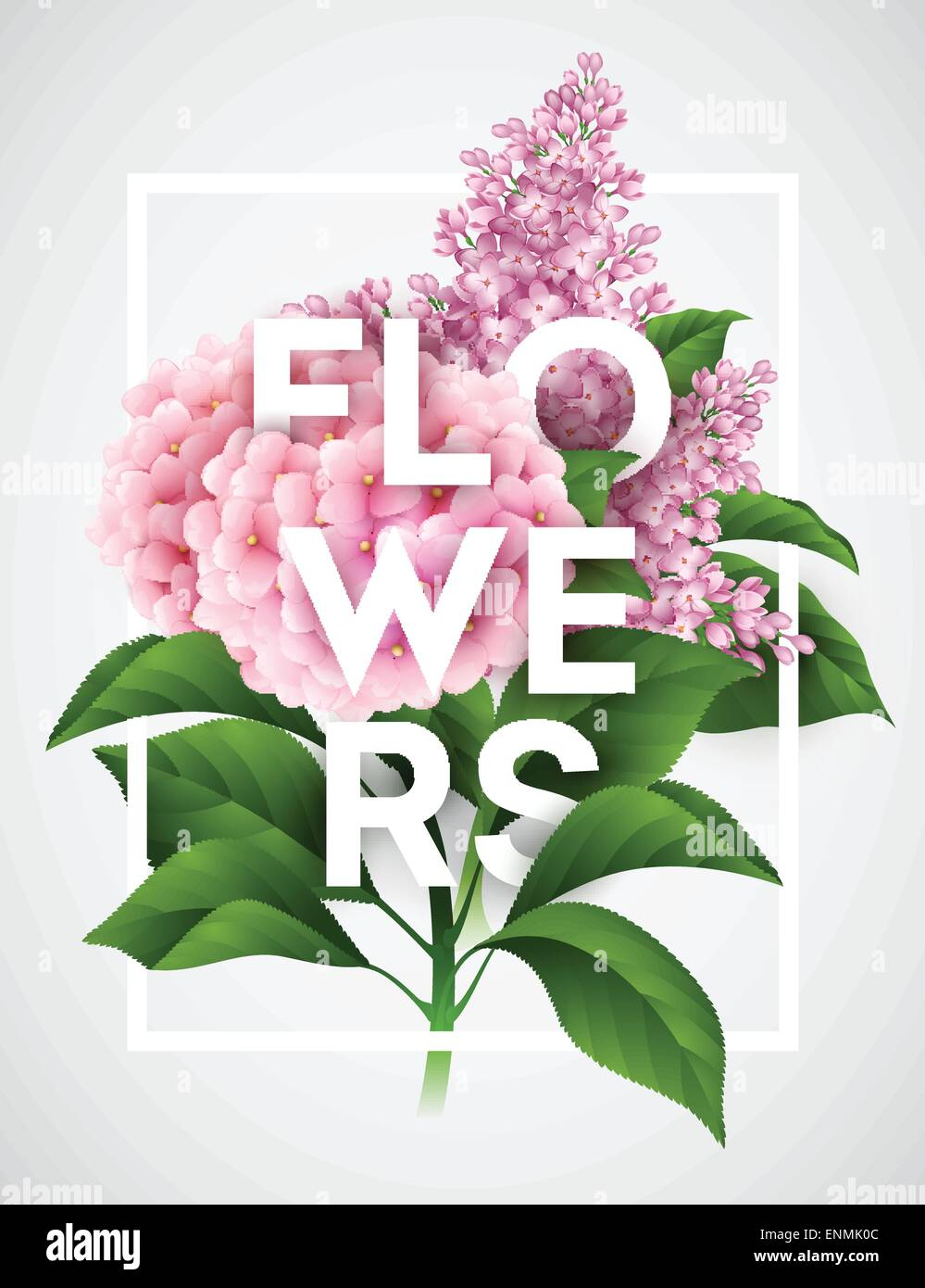 Stylish Vector Poster With Beautiful Flowers Eps 10 Stock Vector Art