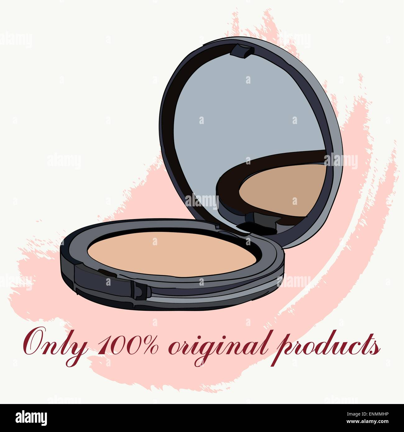 face powder. vector illustration for cosmetic banners, brochures and promotional items