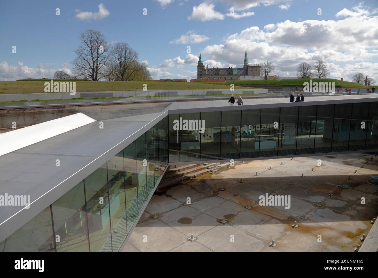 The underground Danish Maritime Museum, M/S Museet for Søfart, designed by Bjarke Ingels Group in front of - Stock Image